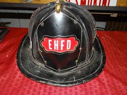 cairns leather fire helmet from east hartford fire department with original leather front shield