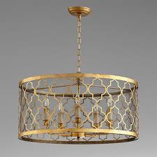 caged arabesque drum chandelier  shades of light