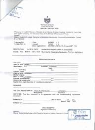 Birth Certificate Translation Template English To Italian Formal