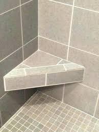 corner shower bench plans seat ideas tile interior built in bathrooms appealing sho