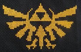 Legend Of Zelda Triforce Pattern Cross Stitch Designs