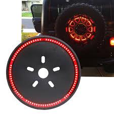 Wheel Light Kit F1 Strobe Flash Spare Tire Mount Led Disc 3rd Brake Light Kit For Jeep Wrangler