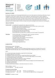 Sales Marketing Resume Cool Account Manager CV Template Sample Job Description Resume Sales