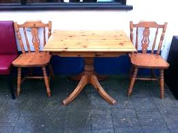 round pine dining table small