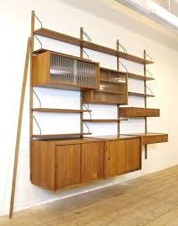 vintage danish ps system teak wall unit