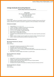 Resume Sample Accounting Resume
