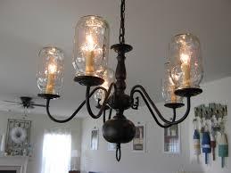 image of bubble mason jar chandelier diy instructions