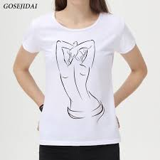 How To Draw Girl Shirts 2018 Latest Fashion Hand Draw Pretty Girl Design Women T Shirt Tops