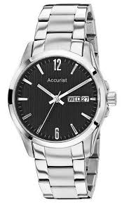 mb987b mens silver bracelet black face watch accurist mb987b mens silver bracelet black face watch