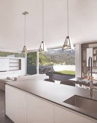 Modern kitchen lighting pendants Kitchen Island Tria Pendant From Blackjack Lighting Has Square Edgelit Panel Within Compact Stainless Pinterest 149 Best Modern Kitchen Lighting Ideas Images In 2019 Accent