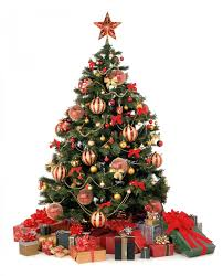 ... Delectable Look Of Red And Gold Christmas Tree Decorating Ideas :  Dazzling Design Ideas Using Triangle ...