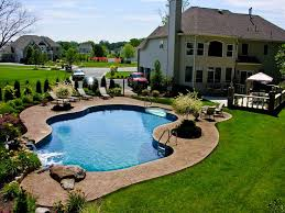 Pool Town NJ inground swimming pools with pool landscaping www.pooltown1.com