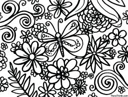 Flower Coloring Pages Kindergarten Small Printable Spring Flowers