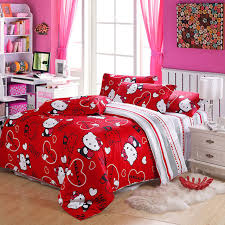 NEW100cotton Hello Kitty Duvet Covers Hello Queen Size Bedding Comforter