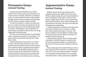 example of argumentative essay on animal testing animal testing  creative argumentative essay samples