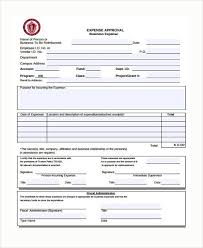 Expences Forms Sample Expense Approval Forms 10 Free Documents In Word Pdf