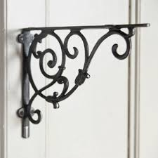 decorative shelf brackets cast iron