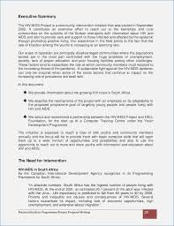 Executive Summary Sample For Proposal Example Of Executive Summary For Proposal 6 Resume Layout
