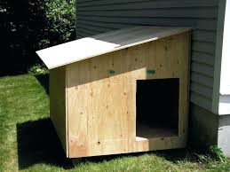 large wooden dog house a slanted roof homemade for small how to outdoor plans houses