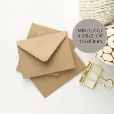 25 Small Envelopes Kraft Seed Envelopes Uk C7 Recycled For Etsy