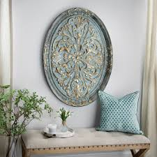 Metal Wall Decorations For Living Room Gold Ornate Oval Metal Wall Plaque The Ojays Coloring And Wall