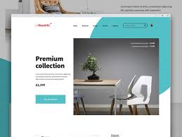Free Furniture Shop Website Template By Chris Burkill Dribbble Awesome Furniture Website Design