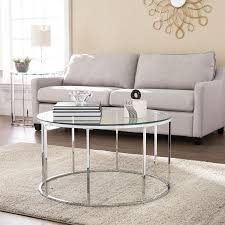 boston loft furnishings boston loft furnishings cassin round coffee table with glass top