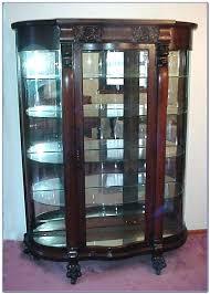 glass china cabinet curved glass china cabinet antique curved glass china cabinet value antique mahogany china cabinet curved glass stained glass china