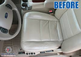 2005 2007 ford f 250 lariat leather seat cover driver bottom tan