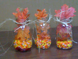 Table Decorations Using Mason Jars Cute Fall Table Decorations Using mason jars fill the bottom with 34