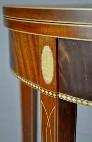 exle of string inlay with diamond banding and oval inlays wall unitsdemilune tablediamond