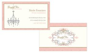 Simply Chic Event Planning Business Cards Personal Infor Flickr