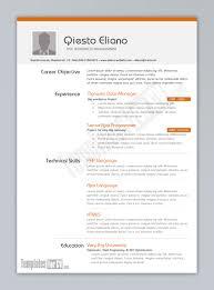 Resume Templates Download Word Free Oneswordnet