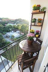 decoration ideas for a small balcony