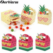 <b>30Pcs Pineapple</b> paper <b>Candy Box</b> Hawaiian Party Baby Show ...