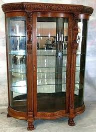 curved glass curio cabinet best china cabinets curios images on antique inside new vintage vintage wall cabinet curio pulaski