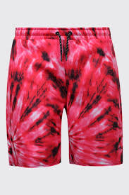 Tie Dye Designs For Shorts Boohooman Big Tall Man Embroidered Shorts In Tie Dye In