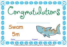Swimming Certificates