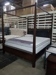 Used New California King canopy bed frame Tax Included for sale in ...