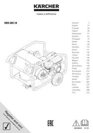 high pressure washer hds 801 b kärcher uk operating instructions