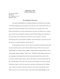 a guide to writing the literary analysis essay sample essay
