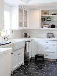 White kitchen dark tile floors Cool Kitchen Decorpad Molly Hutto mollyharbour On Pinterest