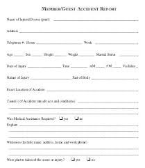 General Incident Report Form Template Benvickers Co