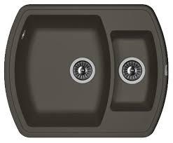 Врезная <b>кухонная мойка FLORENTINA Нире</b>-630К FS 63х51см ...