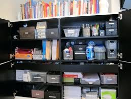 Supply Closet Organization Ideas Office Closet Storage Ideas