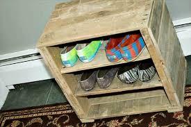 diy pallet shoe rack. Diy Pallet Wood Shoe Rack Recycled Things