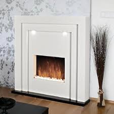 free standing electric fireplace fire led lights white mantelpiece inset heater 5055915070131