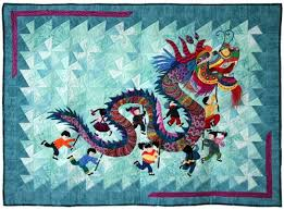 20 best DRAGON QUILT images on Pinterest | Canvas walls, Clothes ... & Hoffman Challenge - 2014 Best Incorporation of the Challenge Fabric Mixed  Technique