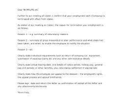 Employee Performance Letter Sample Sample Termination Letter For Poor Performance Employee