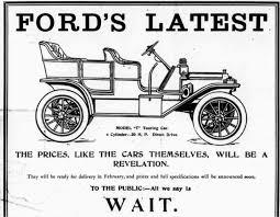 henry ford model t advertisement. model t henry ford advertisement
